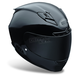 Black Star Solid Helmet - Convertible To Snow