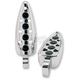 Chrome Teardrop Footpegs - 07-465