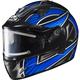Black/Silver/Blue IS-16SN Ramper Helmet w/Electric Shield