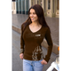 Womens Pinstripe Long Sleeve Shirt