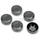 Black Rear Pulley Bolt Covers - 1201-0598