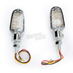Chrome LED Turnsignals w/Clear Lens and Three-Wires - 26-7705CM