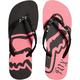 Womens Black Core Flip Flops