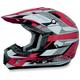 FX-17Y Red Multi Youth Helmet