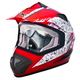 Red/Silver TX-517 Ride Hard Helmet