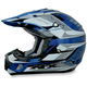 FX-17Y Blue Multi Youth Helmet
