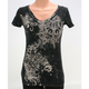 Womens Black Flur De Lis T-Shirt