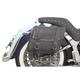 Medium Studded Highwayman Slant-Style Saddlebags - X021-03-040