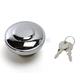 Chrome Non-Vented Screw-In Locking Gas Cap - 0703-0229