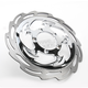 Front Left Chrome Savage Floating Two-Piece Brake Rotor - ZSSGSXRLF-85