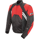 Red/Black Radar Leather Jacket
