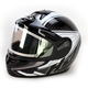 Black/Silver/Black CL-16SN Voltage Helmet w/Electric Shield