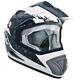White/Charcoal TX-517 Ride Hard Helmet