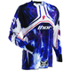 White/Blue Flux Smoke Jersey