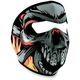 Lethal Threat Flame Skull Full Face Mask - WNFMLT02