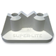 White .50 in. Double Pro Series Super Lite Backing Plates - 2511P2BLK