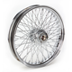 21 in. x 3.5 in. Chrome 80-Spoke Front Wheel Assembly w/Twisted Spokes - 06-108