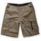 Army Green Mike Check Cargo Shorts