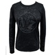 Womens No. 7 Burnout Long Sleeve Tee