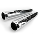 3.5 in. Chrome Tru Power Slip-On Mufflers W/Chrome Tips - LA-1093-02
