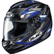 Black/Blue/Silver Thunder CS-R2 Helmet