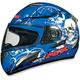 FX-100 Blue Skulls Helmet