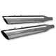 Chrome 4 in. Race Tour Mufflers - 550-0182