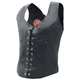 Womens Lace-Up Leather Vest