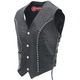 Womens Studded Leather Vest