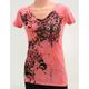 Womens Pink Flur De Lis T-Shirt