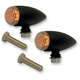 Smooth Gloss Black Powder Coat Bullet Marker Lights - 400370B