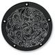 Black Engraved Ness-Tech Retro Derby Cover - 03-596