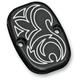 Front Black Engraved Brake Master Cylinder Cover - 03-441