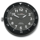 Black Chrome Stainless Steel Snap Back Signature Series White Face Clock w/Super LumiNova Treatments - SB-85200