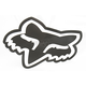Black 4 in. FoxHead Sticker - 14422-001-NS