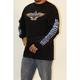 Black Spade Fire Long Sleeve T-Shirt