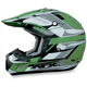 FX-17Y Green Multi Youth Helmet