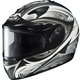 White/Black/Silver IS-16 Lash Helmet