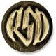Brass RSD Badge w/Logo - 0208-2067