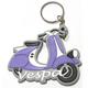 Blue Vespa Rubber Fenderlight Key Chain - KC-FENDER-BL