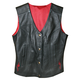 Ladies Scarlet Leather Vest