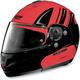 N103 N-Com Red Motorrad Modular Helmet