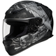 RF-1100 Merciless Black/Silver Helmet