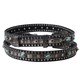 Womens Leather Studded Belt with Turquoise Medallions