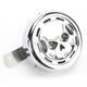 Chrome Billet Skull Horn Kit - 16-003