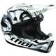 White/Black/Gray Quadrant Marble Helmet