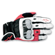 White/Red/Black 2012 Octane S-Moto Leather Gloves