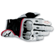 White/Black/Red 2012 Octane S-Moto Leather Gloves