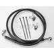 Front Extended Length Black Vinyl Braided Stainless Steel Brake Line Kit +4 in. - 1741-2552