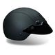 Black Shorty Hide Half Helmet